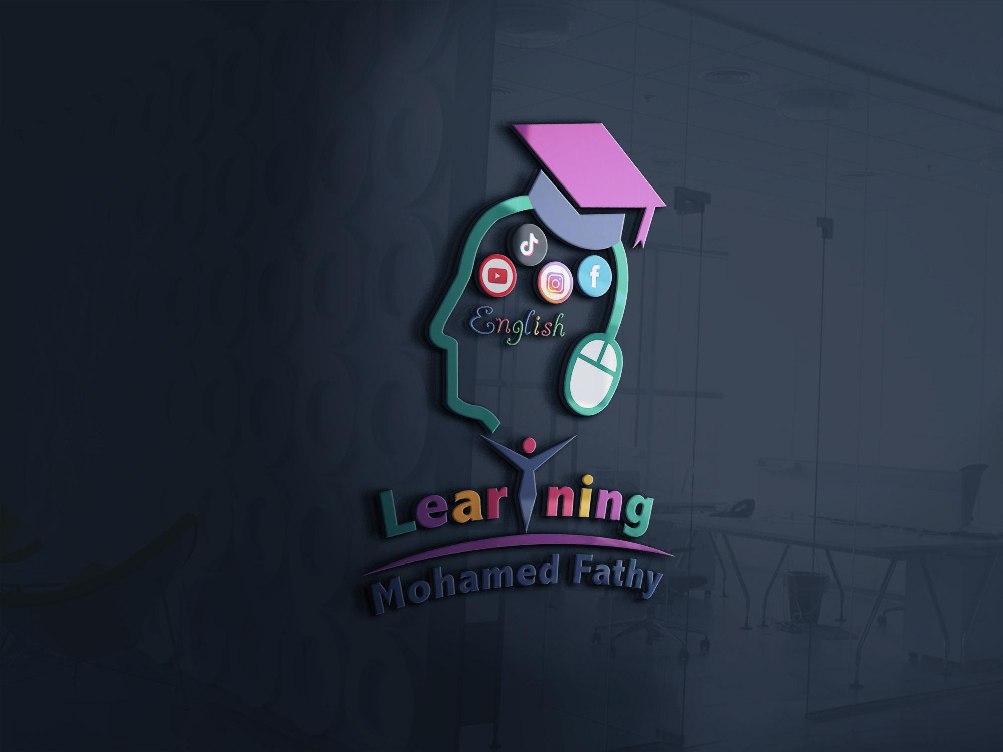 موكاب تصميم شعار لوجو قناة يوتيوب محمد فتحي لتعليم الإنجليزية وتطوير الذات والتطبيقات ومواقع الويب 1